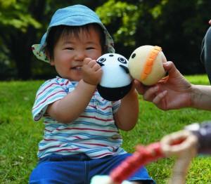 パンダ&ライオンボールと子ども
